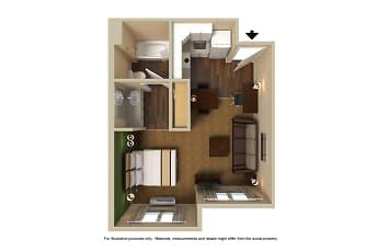 Bedroom, Furnished Studio - San Francisco - San Carlos, 2