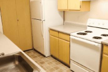 Kitchen, Boulders Apartments, 1