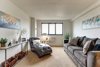 Living Room, River Towers Senior Apartments, 1