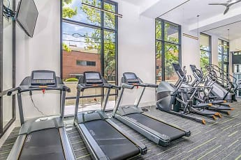 Fitness Weight Room, The Press Apartments, 2