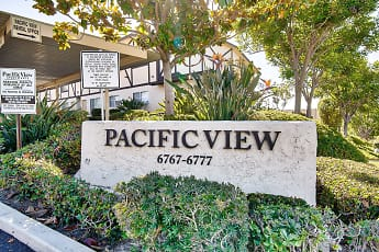 Community Signage, Pacific View Apartments, 0