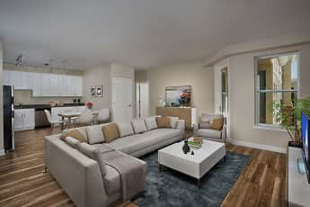 Living Room, Remy Apartments, 1