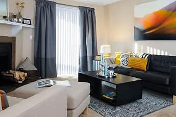 Living Room, Oak Ridge Apartments, 0