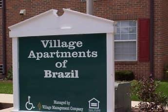 Community Signage, Village Apartments Of Brazil, 2