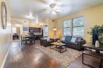 Living Room, Elevation On Post (Per Bedroom), 0