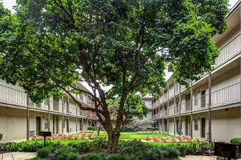 Courtyard, Canterbury Apartments, 0