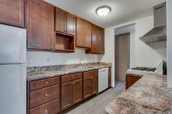 Kitchen, Queen Terrace Apartments, 0
