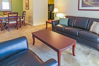 Living Room, Timberland Apartments, 1