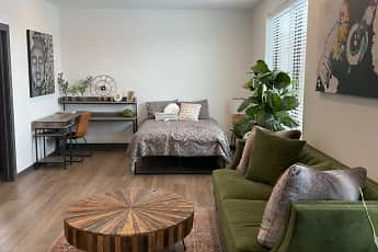 Living Room, The Traveler Apartments, 1