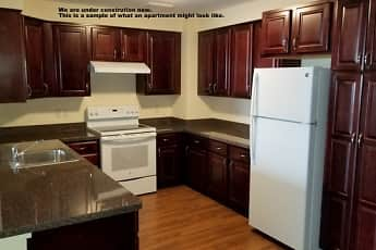 Kitchen, Bear Woods Apartments, 1