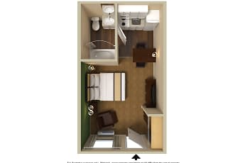 Furnished Studio - Raleigh - North Raleigh - Wake Forest Road, 2