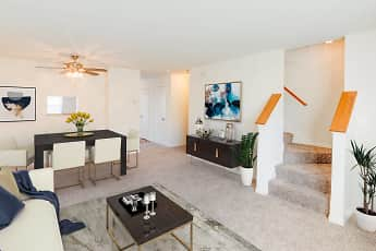 Living Room, Riverwoods Apartments and Townhomes, 0