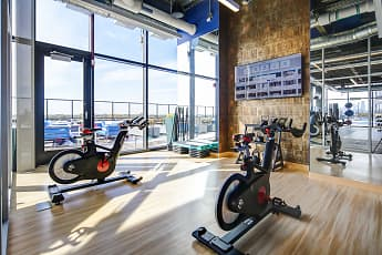 Fitness Weight Room, The Residences at Addison and Clark, 2