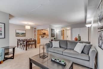 Living Room, York Plaza Apartments, 0