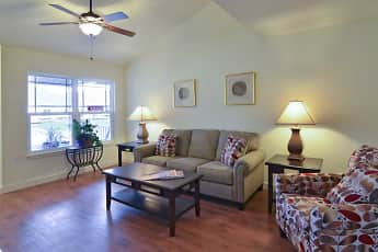 Living Room, The Spinney At Van Dyke Senior Apartments, 1