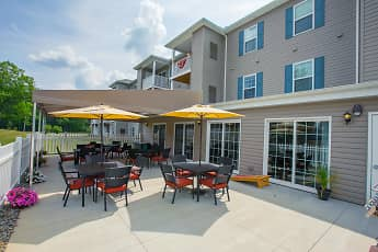 Courtyard, Oak Hill Senior Apartments, 0