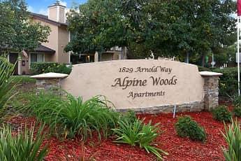 Community Signage, Alpine Woods, 2