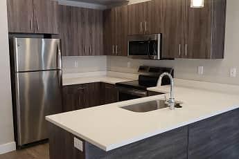 Kitchen, Gardner Station Apartments, 0