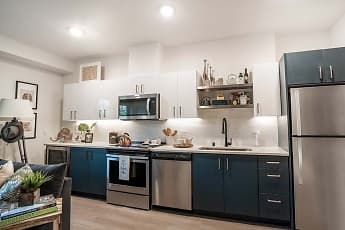 Kitchen, The Press Apartments, 0