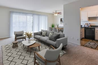 Living Room, Lake Forest Apartments, 0