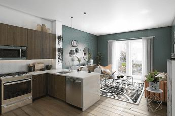 Kitchen, Vert Apartments, 0