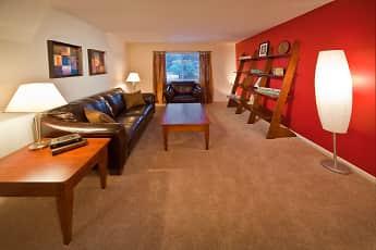 Living Room, Main Street On The Monon Apartments, 1
