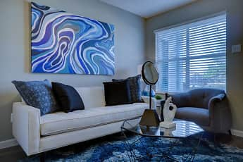 Living Room, Warwick Court Townhomes, 2