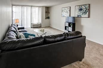 Living Room, Jefferson Tower Apartments, 0