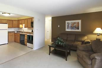 Living Room, Hallmark Village Apartments, 1