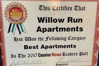 Community Signage, Willow Run Apartments, 2