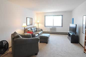Living Room, Riverview Apartments, 1