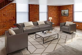 Living Room, Foundry Apartments, 0
