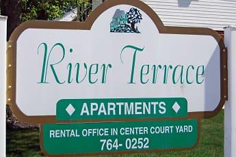 Community Signage, River Terrace Apartments, 0