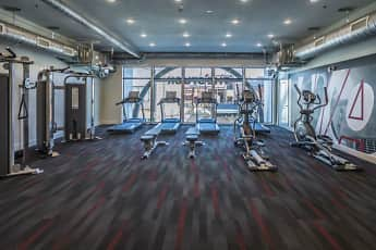 Fitness Weight Room, University Lofts Apartments, 2