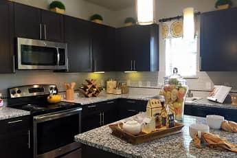 Kitchen, Flats at Garland, 0