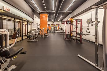 Fitness Weight Room, One Lytle Place Apartments, 2