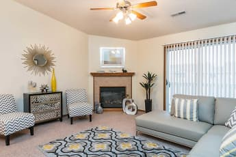Living Room, Pebblebrook Apartments And Townhomes, 1