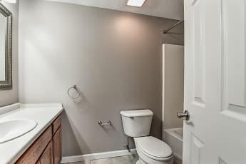 Bathroom, Village Green Apartments, 2