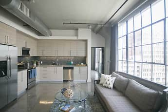 Living Room, Maxfield Lofts, 0