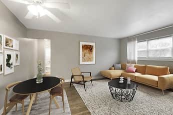 Living Room, Minikahda Court Apartments, 1
