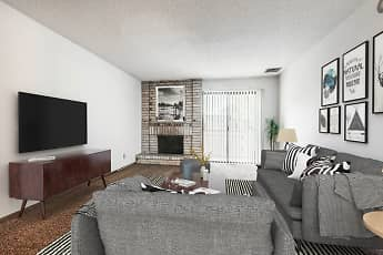 Living Room, White Lakes Plaza Apartments, 0