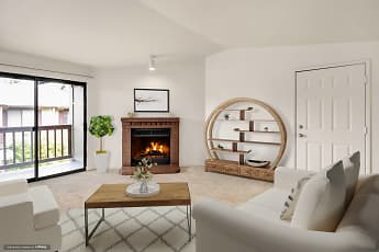 Living Room, Crown Pointe, 0