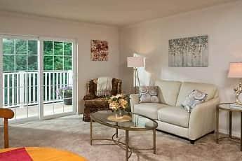 Living Room, Glenmont Abbey Village - 55+ Living, 0