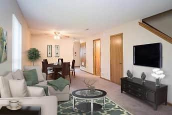 Living Room, Berkshire Apartments, 2