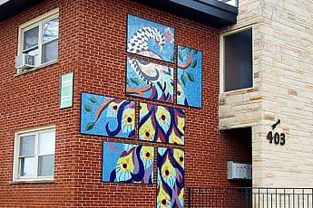 Community Signage, 401-407 Washington Apartments, 2