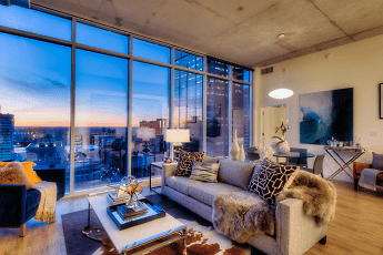 Living Room, One Light Luxury Apartments, 0