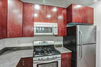 Kitchen, Axis at 739 Apartments, 1