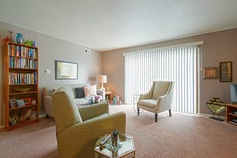 Living Room, Colony South Apartments, 1