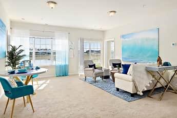 Living Room, Oceans East Luxury Apartment Homes, 1