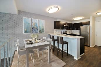 Kitchen, Crossings at Canton Apartments, 0